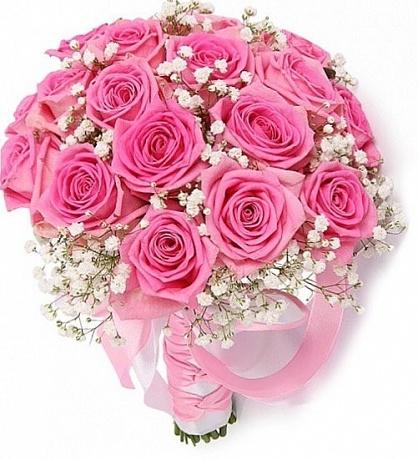 Букет невесты из 21 розовой розы