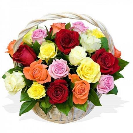 Купить корзину роз недорого с доставкой по Москве