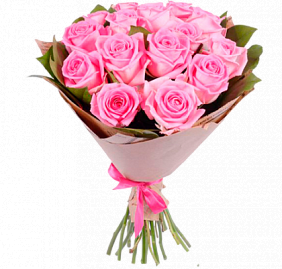 Купить букет из розовых роз с доставкой по Москве