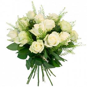 Цена букета белых роз